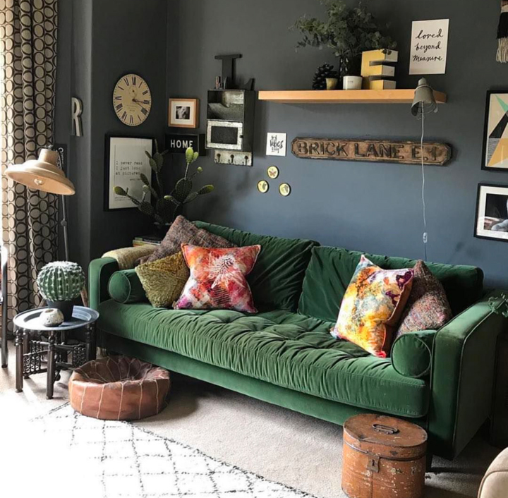 Modern Luxe meets the Girl with the Green Sofa